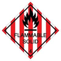 Flammable Solid Symbol Sign Isolate On White Background,Vector Illustration EPS.10 vector