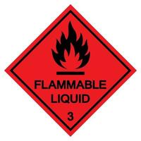 Flammable Liquid Symbol Sign Isolate On White Background,Vector Illustration EPS.10 vector