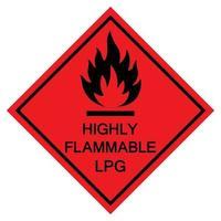 Flammable LPG Symbol Sign Isolate On White Background,Vector Illustration EPS.10 vector