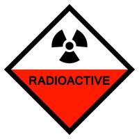 Radioactive Symbol Sign Isolate On White Background,Vector Illustration EPS.10 vector