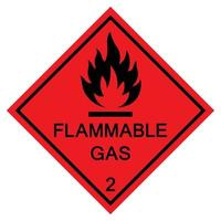 Flammable Gas Symbol Sign Isolate On White Background,Vector Illustration EPS.10 vector