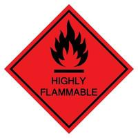 Highly Flammable Symbol Sign Isolate On White Background,Vector Illustration EPS.10 vector