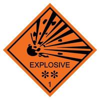 Warning Explosive Symbol Sign Isolate On White Background,Vector Illustration EPS.10 vector