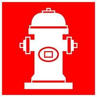 Fire Hydrant Symbol Sign Isolate On White Background,Vector Illustration EPS.10 vector