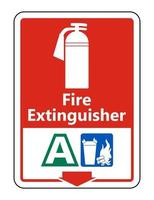 Symbol Fire Extinguisher A Sign on white background vector