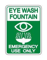 Eye Wash Fountain Sign Isolate On White Background,Vector Illustration vector