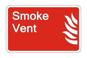 Fire Smoke Vent Safety Symbol Sign on white background,vector illustration vector