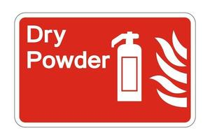 Fire Dry Powder Safety Symbol Sign on white background,vector illustration vector