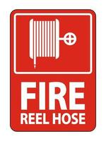 Fire Reel Hose Sign on white background vector