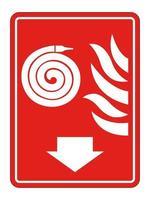 Fire Reel Hose Sign Isolate On White Background,Vector Illustration EPS.10 vector