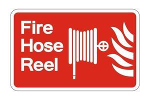 Fire Hose Reel Symbol Sign on white background,vector illustration vector
