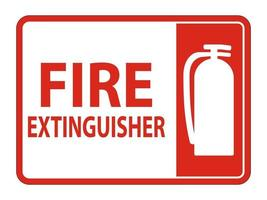 Fire Extinguisher Sign on white background vector