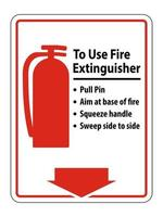 Symbol How To Use Fire Extinguisher Sign on white background vector