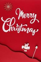 plantilla de tarjeta de feliz navidad foto