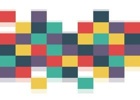 Abstract squares background template, retro style banner template. vector illustration