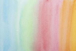 Rainbow watercolor painting background photo
