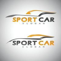 concepto de diseño de coche abstracto temas de automoción plantilla de diseño de logotipo vectorial. ilustración vectorial vector