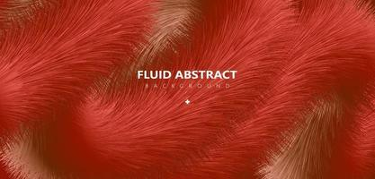 Trendy red golden gradient fur texture abstract background vector