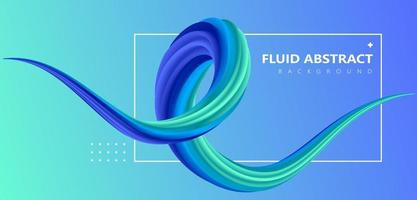 Fashion blue green trend fluid gradient dynamic pipeline vector element