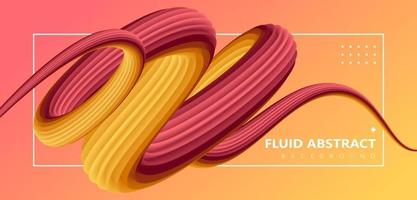 Red yellow trend fluid gradient dynamic pipeline background vector