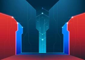 Abstract futuristic technology background. E-Sport cyber stage concept. vector