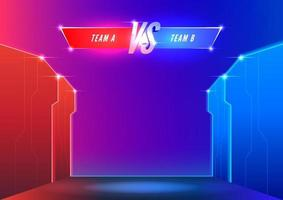 Versus screen template. E-Sport cyber stage background. vector