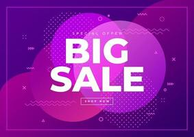 Big Sale banner template. Special offer big sale on abstract background.