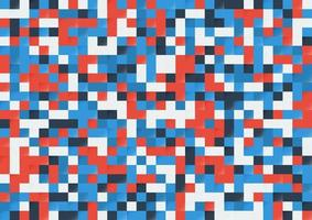 Abstract color pixel seamless background. Modern style pattern. vector