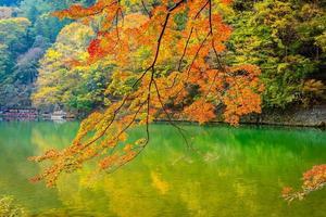 Arashiyama river in Kyoto, Japan photo
