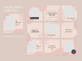 Puzzle Template Fashion Women Feed vector