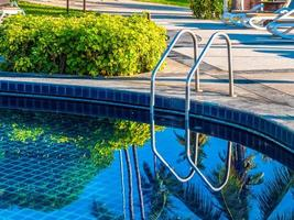 Swimming pool in a hotel photo