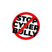 Stop Bullying sign. Social media bullying, Cyber bullying. vector