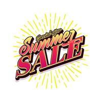 Banner de venta de verano en estilo moderno para campaña de promoción. vector