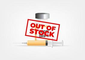 COVID-19 Vaccine out of stock. vector