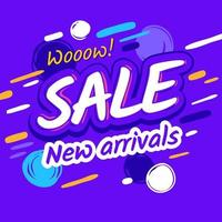 Sale template discount, new arrivals promotion vector