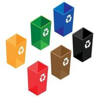 Containers for separate collection of garbage vector