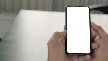 Smartphone in hands mock-up photo