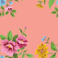 flower cute pattern seamles background vintage