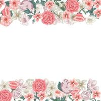 Beautiful flower card to write a dedication vector