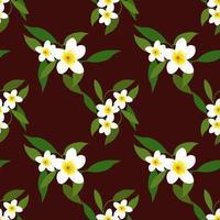 flower cute pattern seamles vector