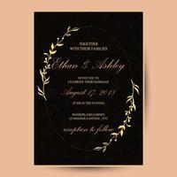 flower wedding invitation retro vintage