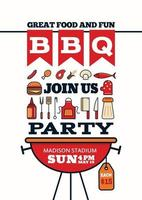 grilled bbq party icon style for invitation car or flyer or poster vector