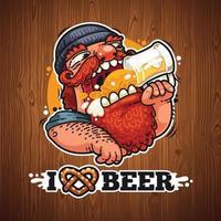 Man Loves Beer vector