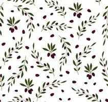 Seamless vector pattern with olive tree twigs. Olive background. Perfect for wallpaper, background, textile or wrapping paper.