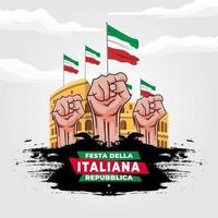 Vector illustration of Festa della Repubblica Italiana poster