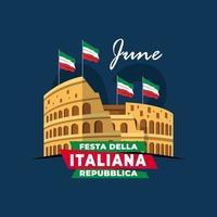 Italian Republic Day poster vector