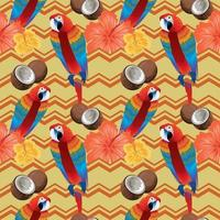 tropical seamless pattern with parrots vector