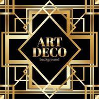 golden gradient art deco background vector