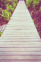 Old wooden path walk