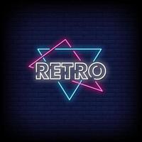 Retro Neon Signs Style Text Vector